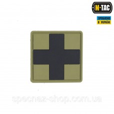 M-TAC НАШИВКА MEDIC CROSS SQUARE ПВХ ОЛИВА'