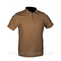 Футболка Поло Mil-tec тактическая TACTICAL QUICK DRY POLOSHIRT Coyote